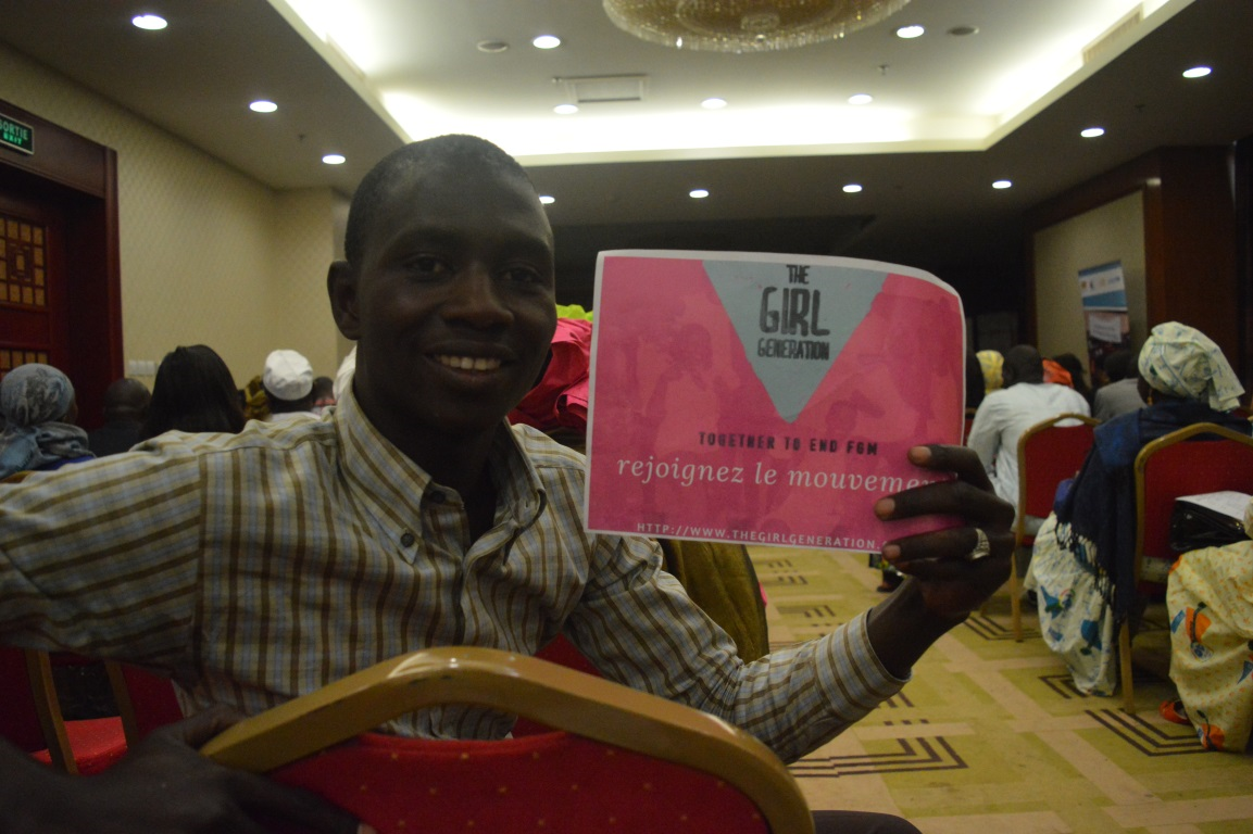Ousmane at International Women's Day, in Dakar Senegal: Women in the Changing World of Work: Planet 50-50 by 2030
